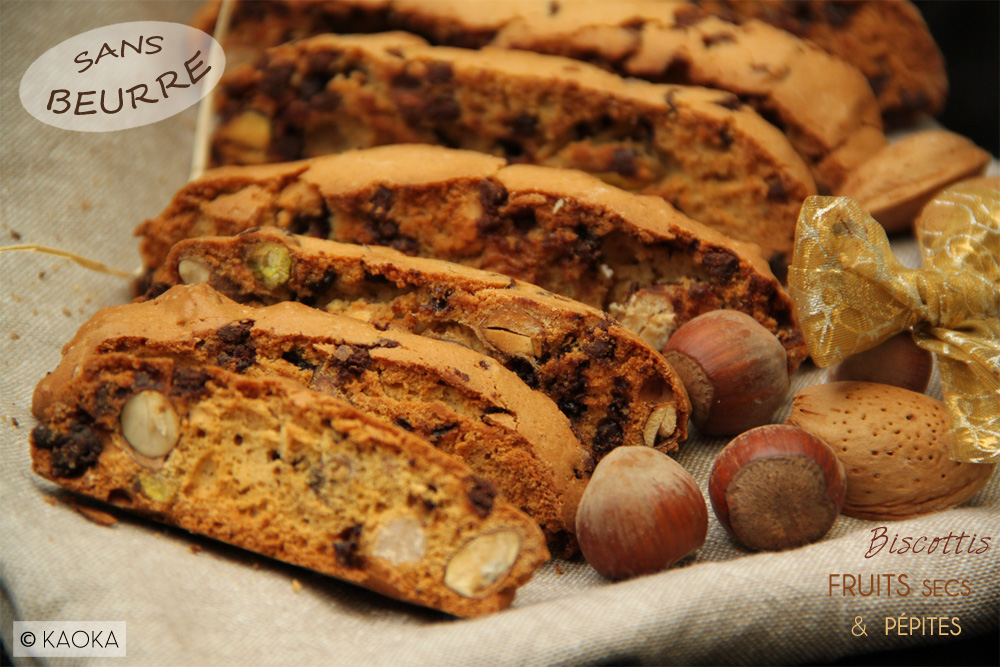 Biscottis Fruits Secs & Pépites de Chocolat