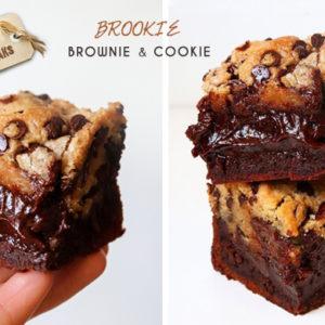 Recette de Brookie : Brownie & Cookie